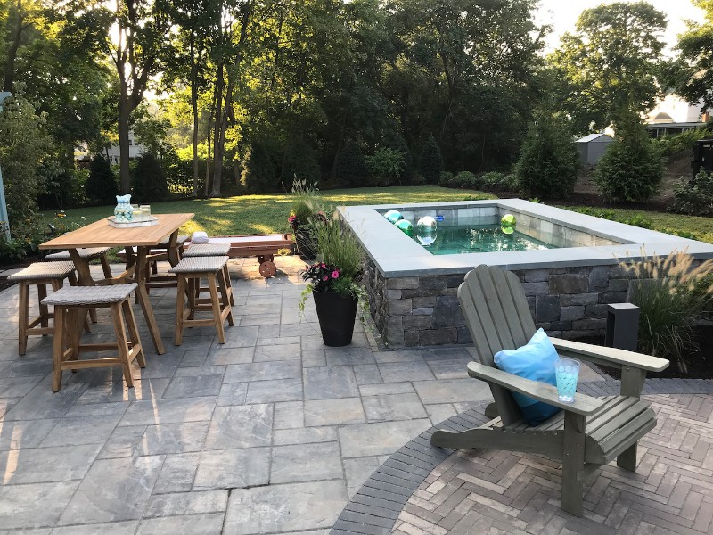 <strong>Photo credit:</strong> Claudia Jepsen<br>Plunge pools become a focal point and social gathering spot in your backyard living space.<br>This project was part of the This Old House <em>Future House</em> in Narragansett, RI