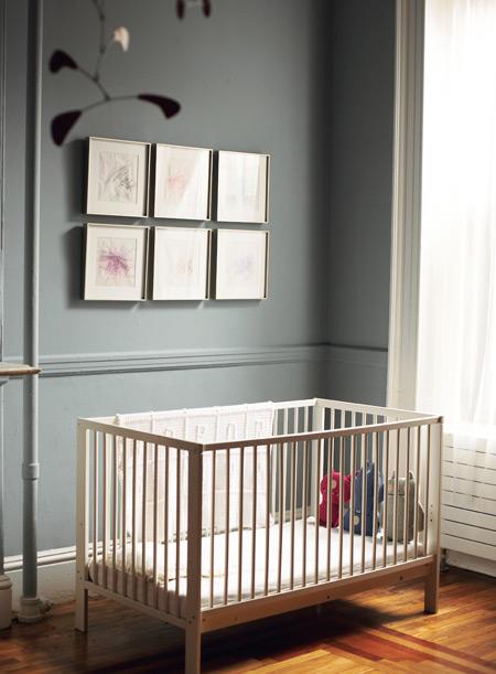 Netmodern Nursery Lighting : ... —affordable, a wooden Ikea crib makes a practical nursery addition
