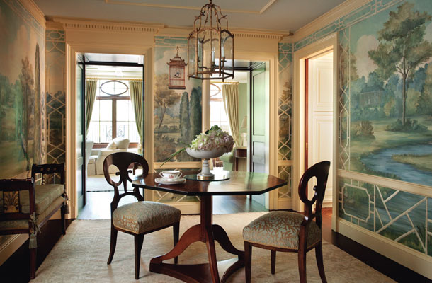 Harmony and home december 2010 for Dining room mural wallpaper