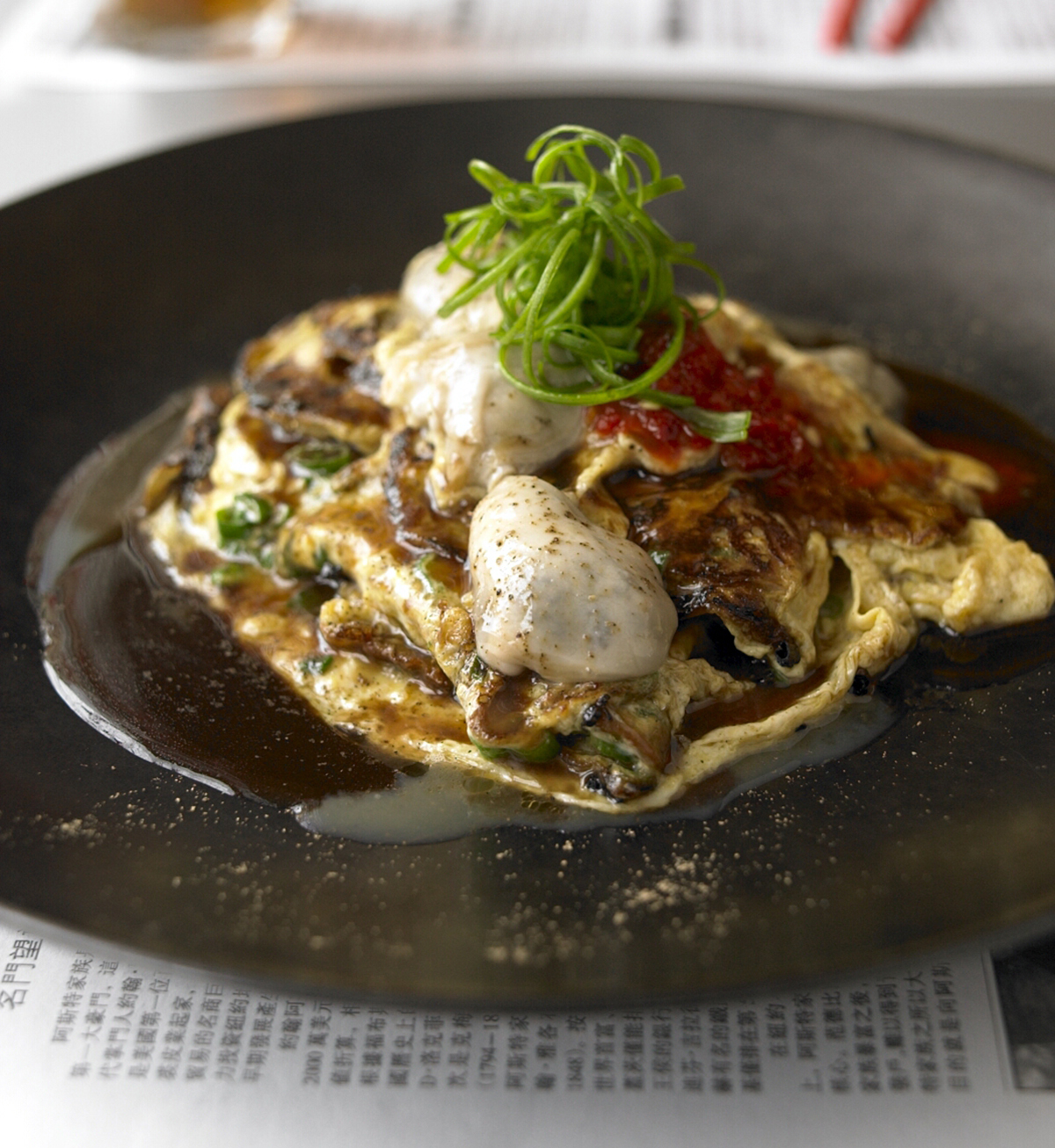 myers and chang oyster omelet