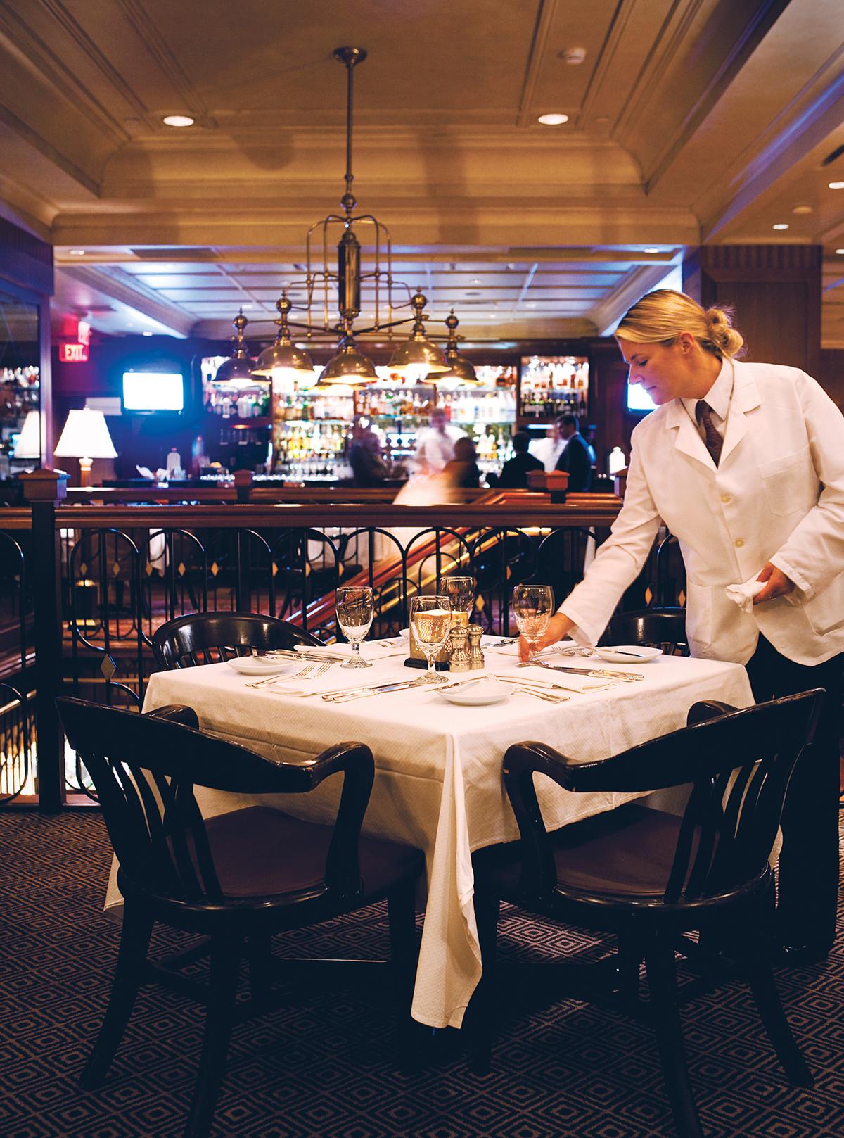 Table 608 at Back Bay steakhouse Grill 23. Photograph by Keller + Keller.