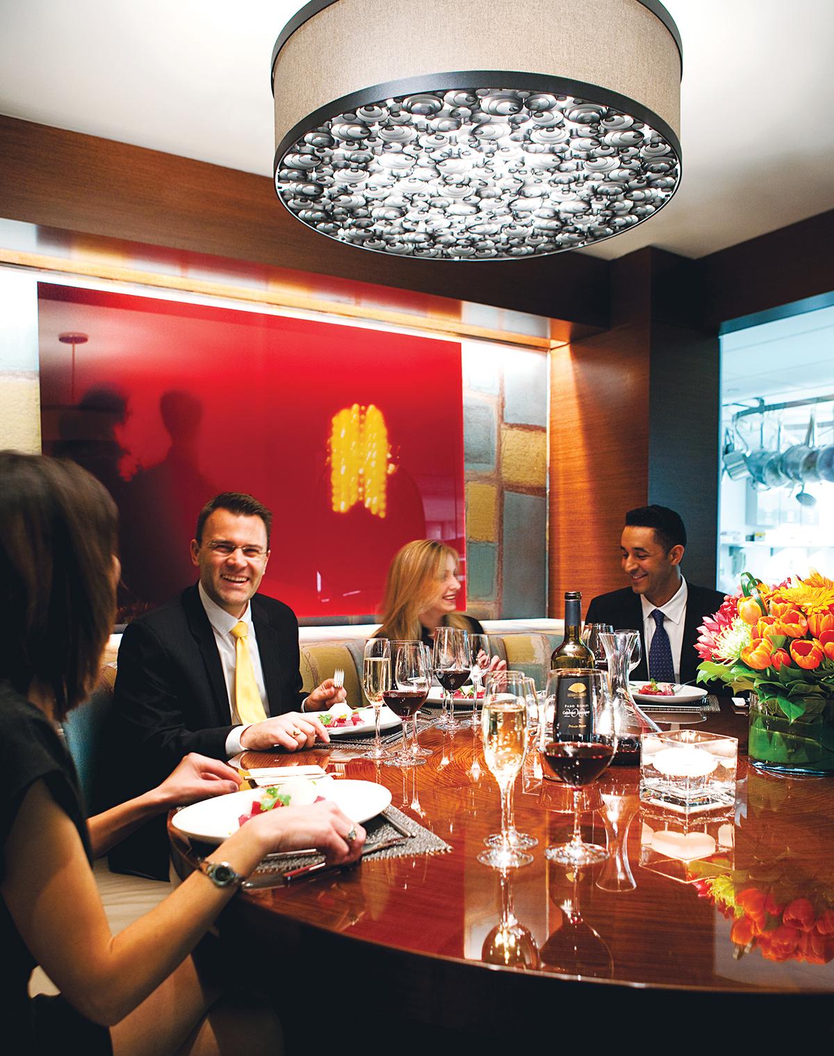 The chef's table at Asana in the Mandarin Oriental. Photograph by Keller + Keller.