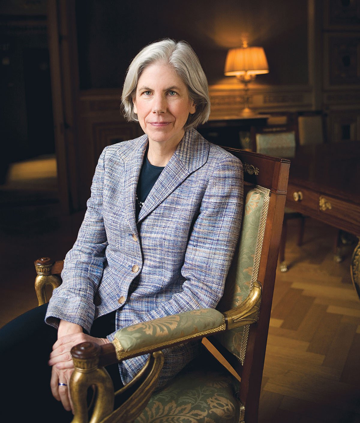 Boston Public Library president Amy Ryan. Photograph by Blake Fitch.