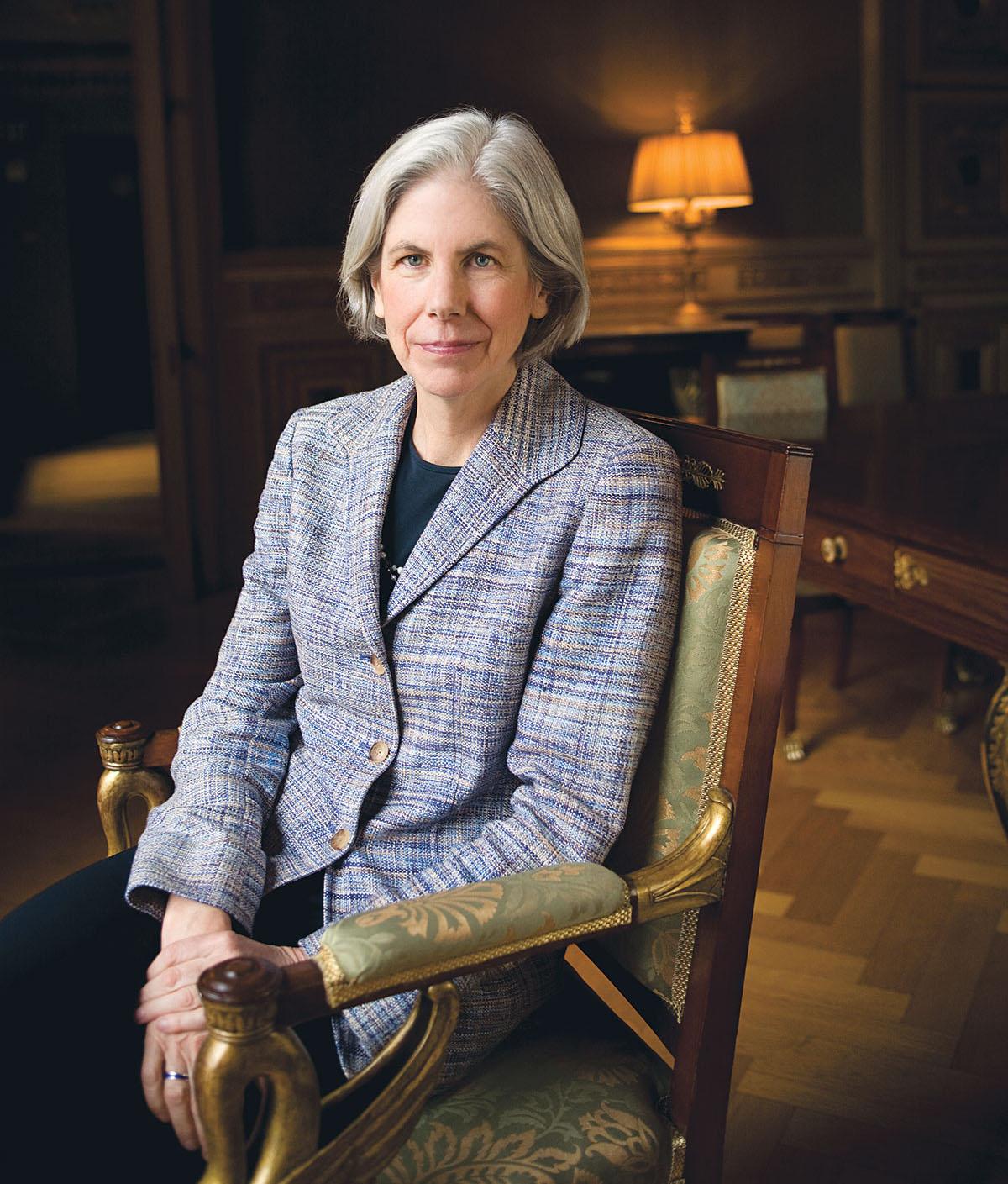 Boston Public Library president Amy Ryan. Photograph by Blake Fitch.