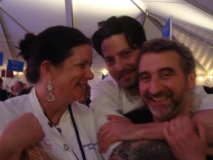 Chefs Angela Raynor, Sam Mason and Cesare Casella
