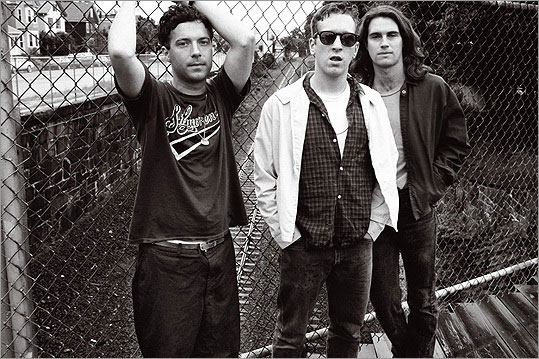"""Buffalo Tom in 1990 / Photograph by Michael Lavine from his book, <em>Grunge</em>"""" width=""""539″ height=""""359″ /></a>[/caption]<p>I just got home late Saturday night from the last of the <strong><a href="""
