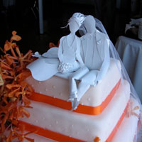 Cake topper by Paper, Gowns & Glory