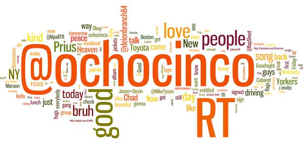 Ochocinco Word Cloud