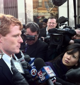 Joe Kennedy III at Newton Center - Day One