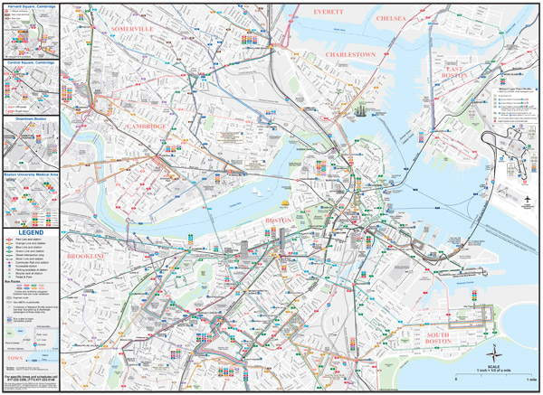 MBTA About The MBTA Boston Public Transportation Map