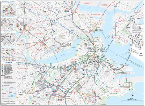 MBTA system map