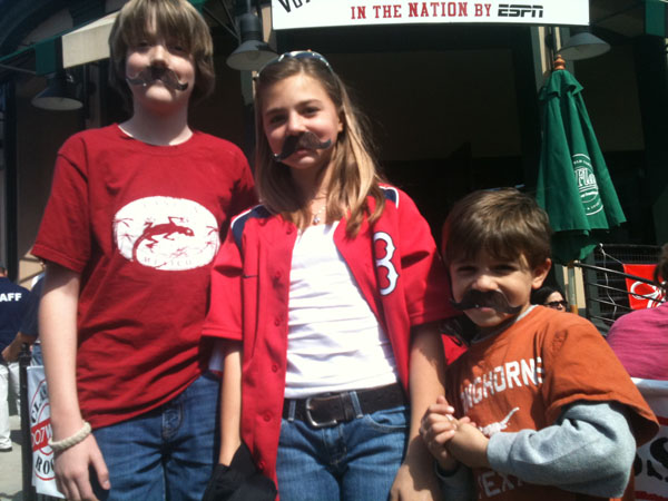 kid fans at fenway park