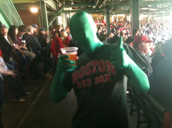 green man at fenway park