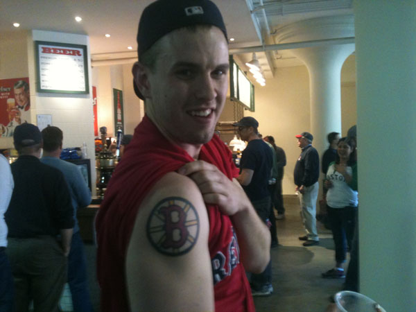 red sox tattoo fan