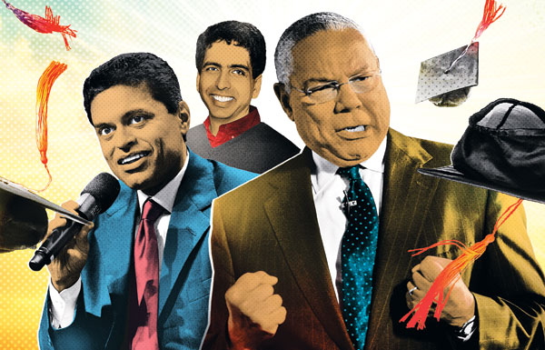 Fareed Zakaria, Salman Khan, and Colin Powell