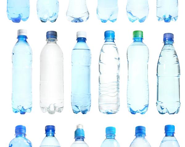disposable plasic water bottle