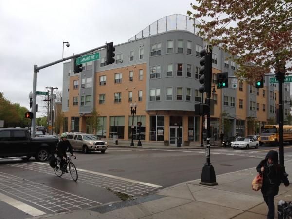 Jackson Square Intersection bike