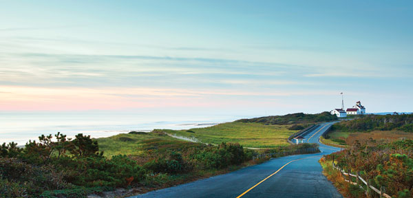 long road with ocean view