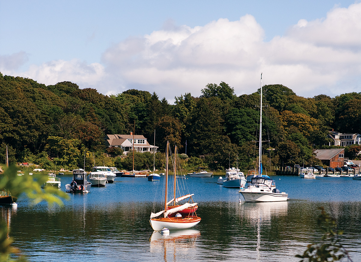 A view of Quissett Harbor in Falmouth (Photo by Keller + Keller).