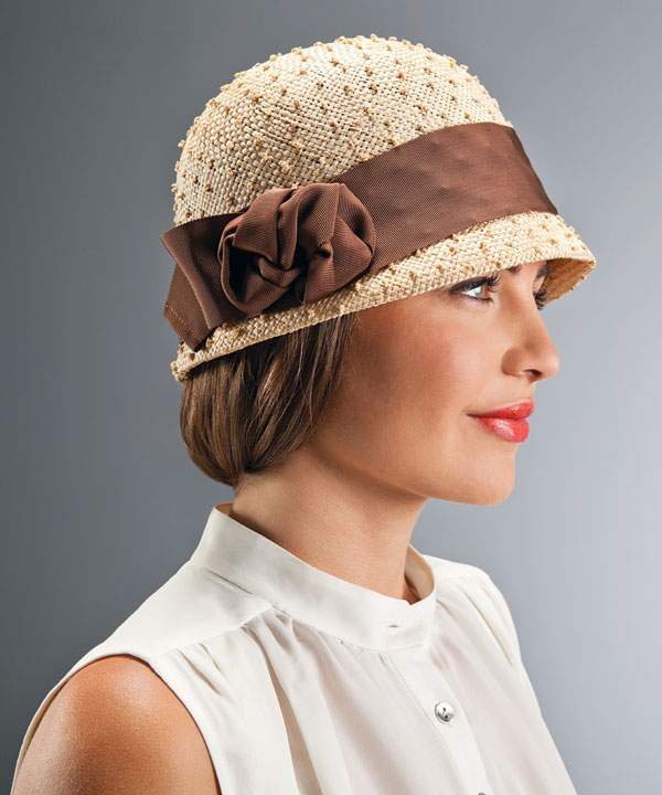 woman wearing nubby parisisal hat