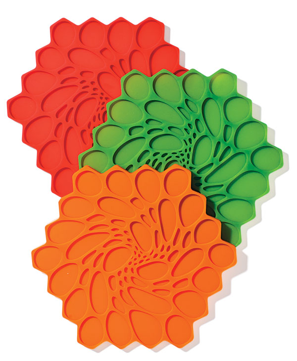 multi-colored trivets