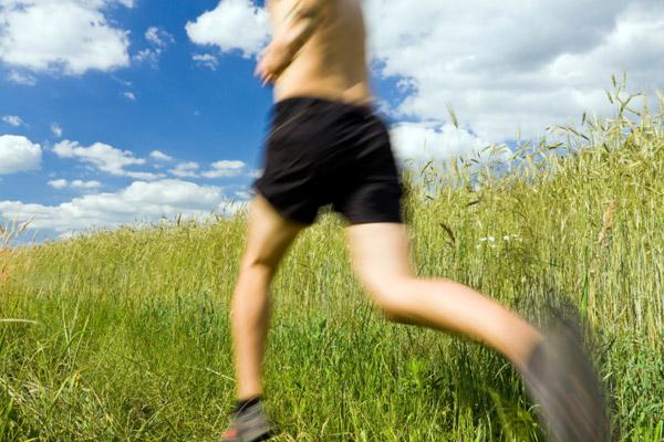 runner without a shirt