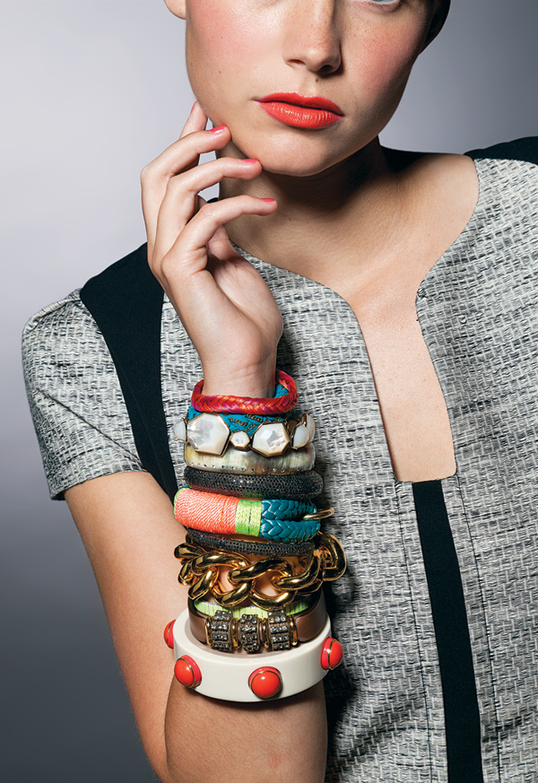 woman wearing bracelets