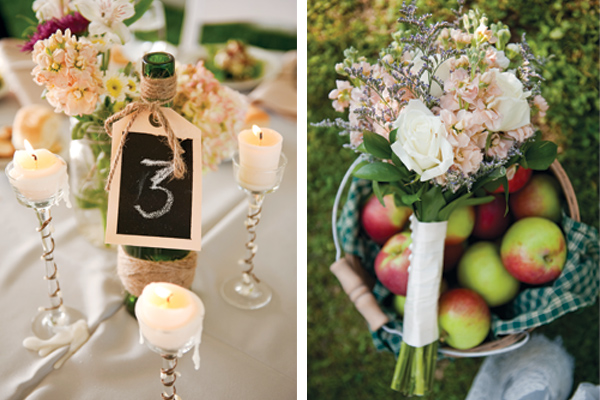 bouquet and place setting