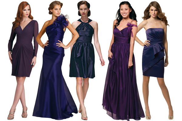 purple dresses