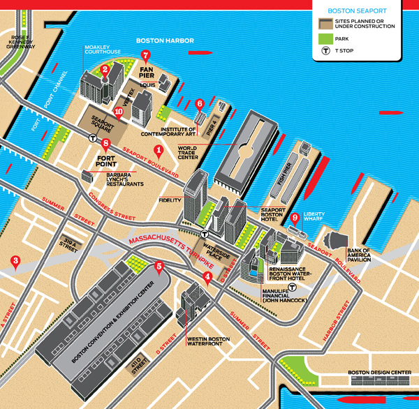 seaport district map
