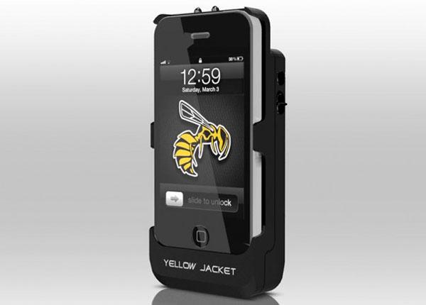 yellow jacket iphone case