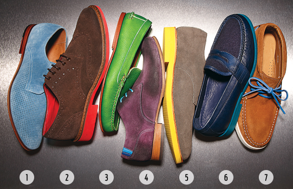 colorful men's shoes
