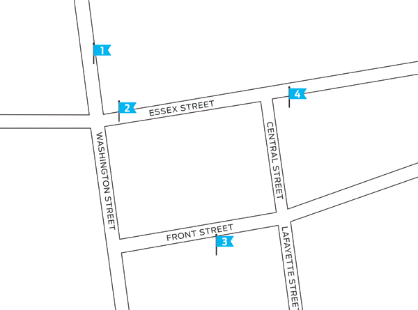shopping and dining in salem, massachusetts, map