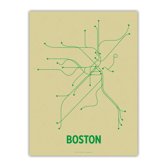 The Mbta Transit Map As Wall Art