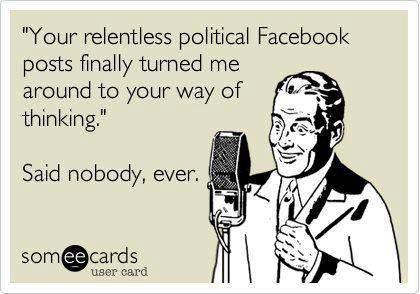 Facebook Is Great For Sharing Pictures >> The Great Debate Sharing Political Opinions On Facebook
