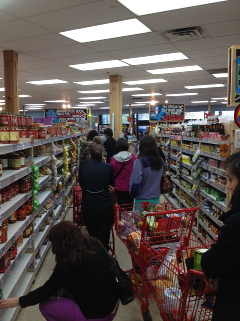 grocery lines Sandy
