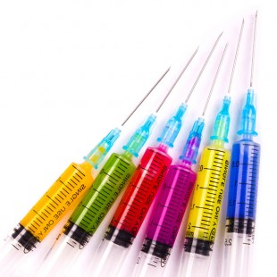colored syringes