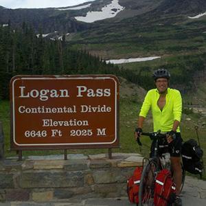 Senator Brownsberger biking