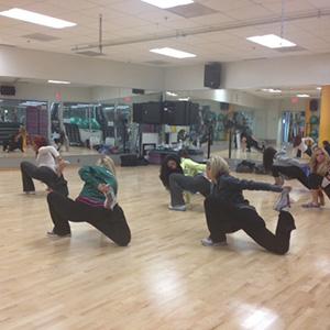 Celtics dancers stretch
