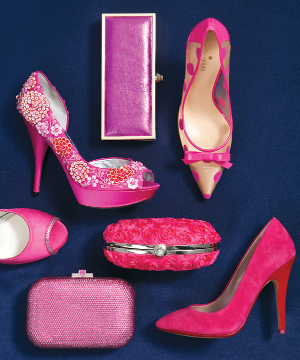 navy and hot pink wedding theme ideas