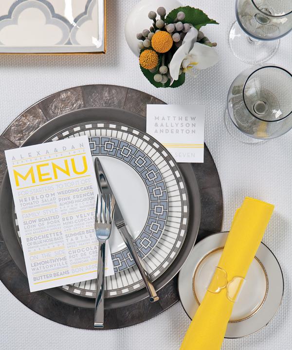 gray and yellow wedding theme ideas