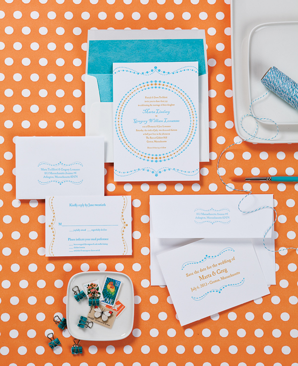 light orange and aqua wedding theme ideas