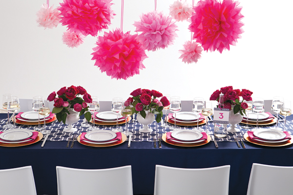 A Colorful Affair Navy And Hot Pink
