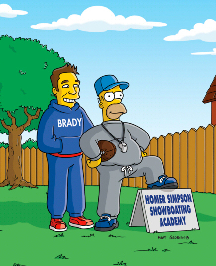 tom brady on the simpsons