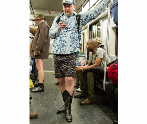 no pants subway ride boston 2013 photo