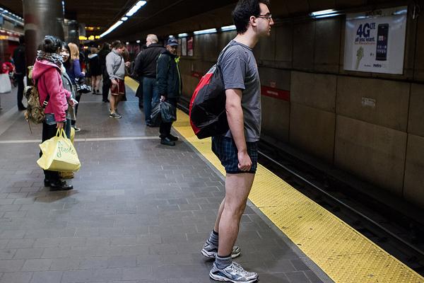 no pants subway ride boston 2013 photo