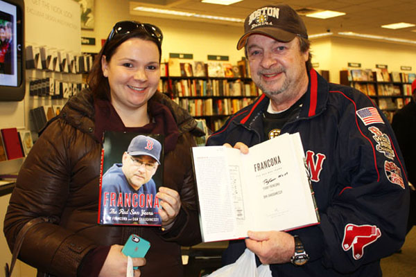 fans show off their francona books