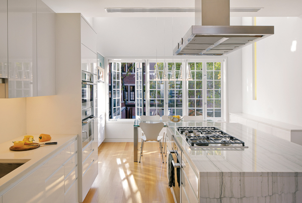 contemporary beacon hill townhouse kitchen