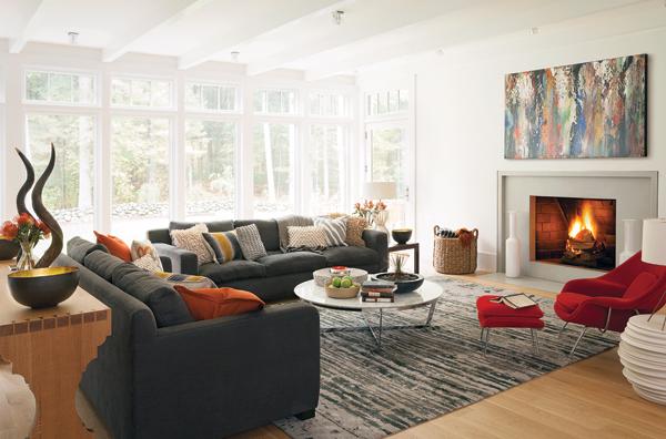 weston home renovation living room