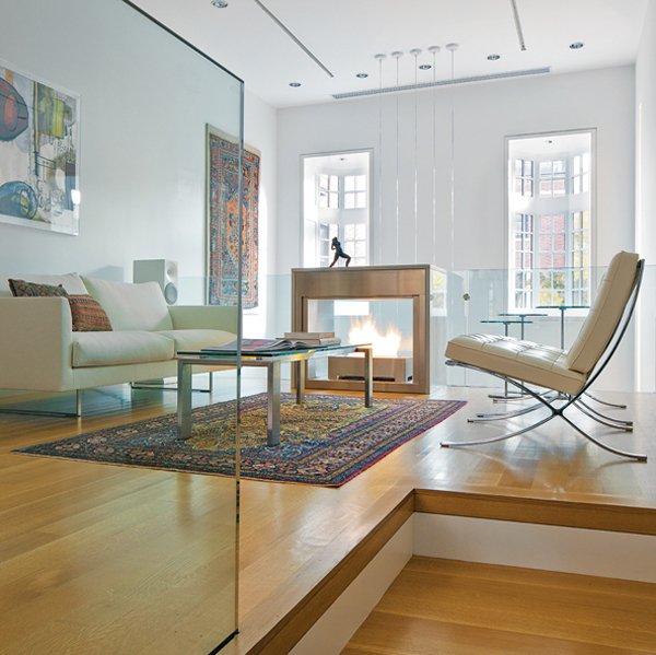 contemporary beacon hill townhouse sitting area